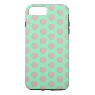 Copper Dots Mint Green iPhone Case