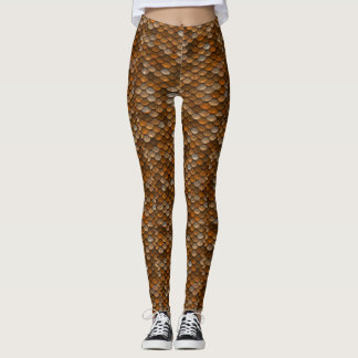 Copper Dragon Scales Leggings