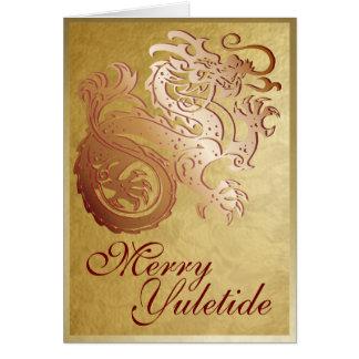 Copper Dragon - Yule Greeting Card 3
