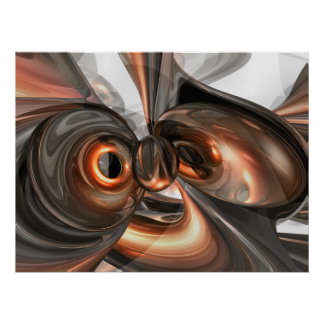 Copper Dreams Abstract Poster