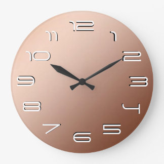 Copper elegance simplicity large clock