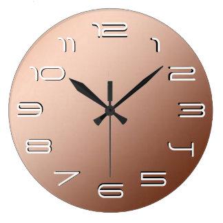 Copper elegance simplicity wall clock