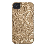 Copper embossed floral pattern. iPhone 4 cases