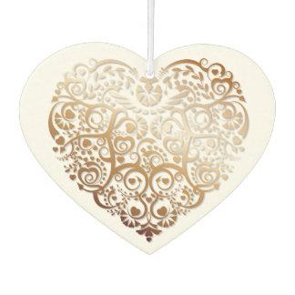 Copper Filigree Heart Air Freshener