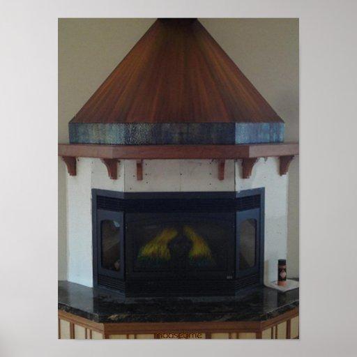 Copper fireplace hood 12x16 print