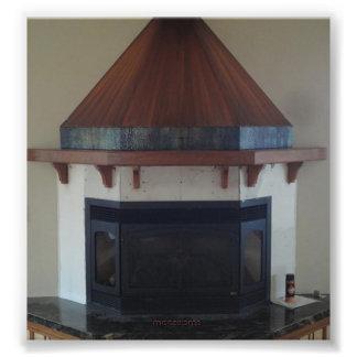 Copper fireplace hood photo