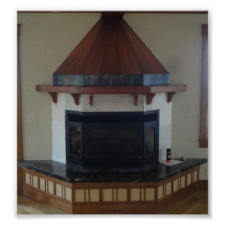 Copper Fireplace Hood Poster