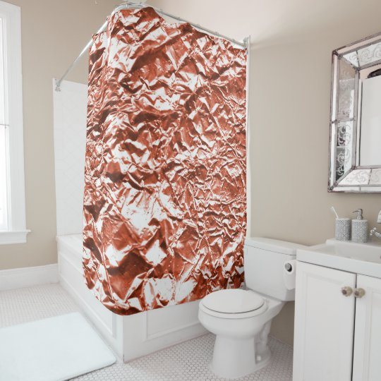 Copper Foil Shower Curtain