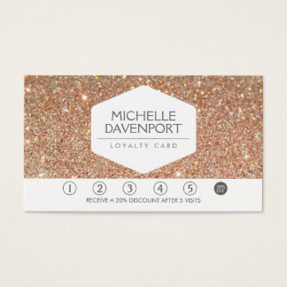 COPPER GLITTER Salon Loyalty Card
