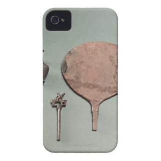 Copper hairpin, collyrium rod with pot and mirror, iPhone 4 cover