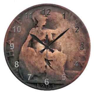 Copper Half Penny Coin Clocks
