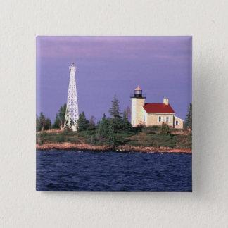 Copper Harbor Lighthouse 15 Cm Square Badge