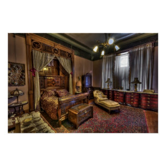 Copper King's Master Bedroom - Butte Montana Posters