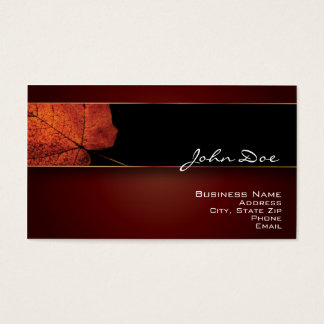 Copper Leaf Business Card