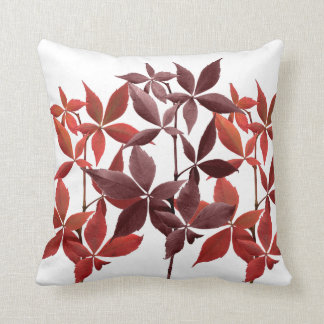Copper Leaves brown rust nature Cushion