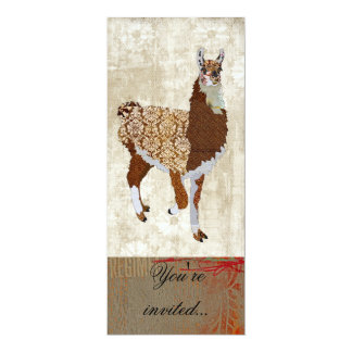 Copper Llama Ornate Invitation