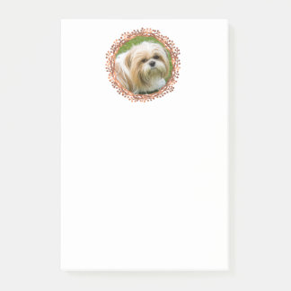 Copper-look Christmas berry wreath custom photo Post-it Notes