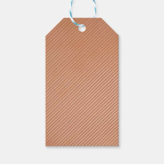Copper-look stripes design gift tags
