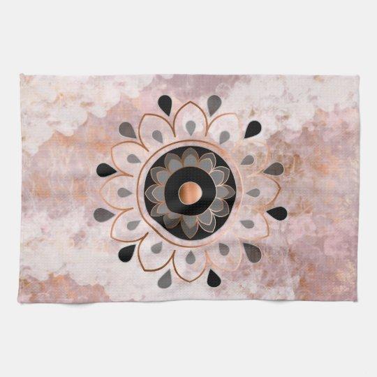 Copper Mandela Kitchen Towel