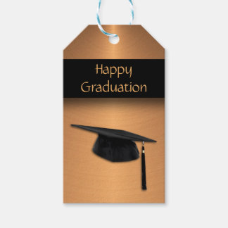 Copper Metal Look Graduation Gift Tags