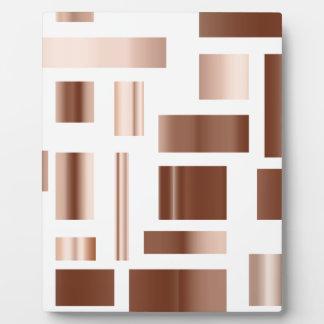 copper metalic blocks plaque