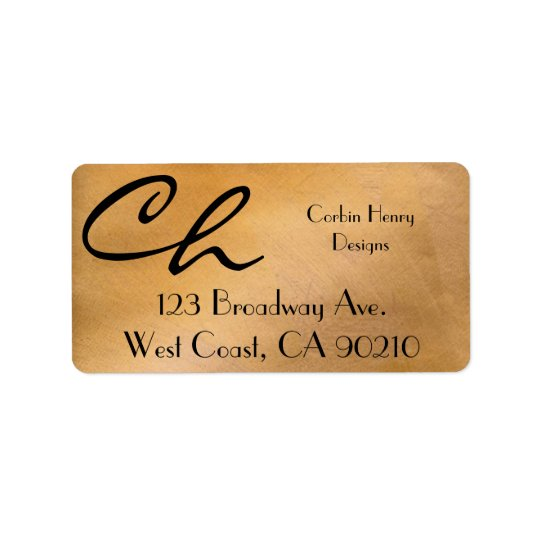 Copper Metallic Address Labels