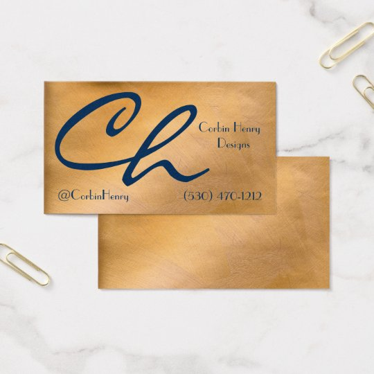 Metal recycling business cards zazzle copper metallic and navy business cards reheart Gallery