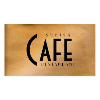 Copper Metallic Restaurant Business Card