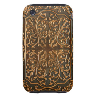Copper Metalwork Scroll Design Photo Image Tough iPhone 3 Cover