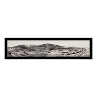 Copper Mining Ruth NV Photo 1909 Poster