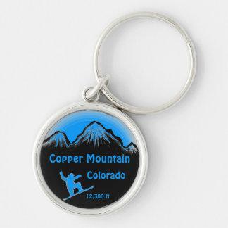 Copper Mountain Colorado blue snowboard keychain