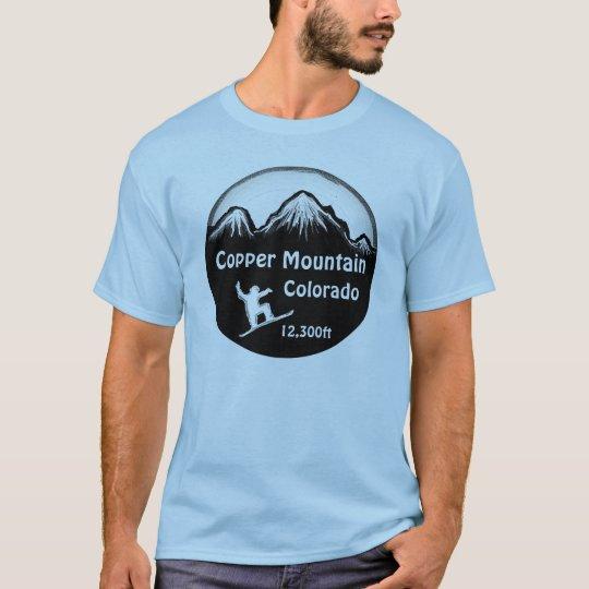 Copper Mountain Colorado blue snowboard tee