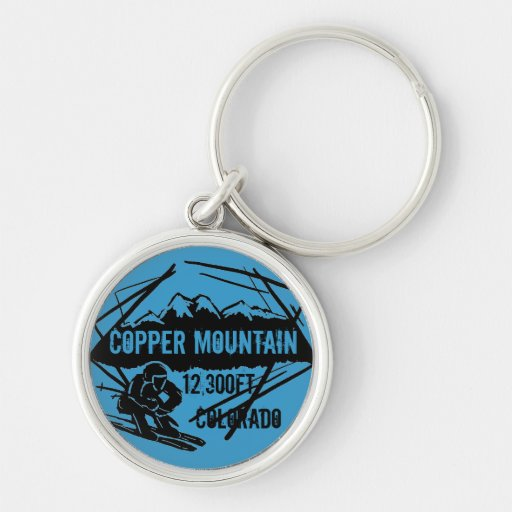 Copper Mountain Colorado ski elevation keychain