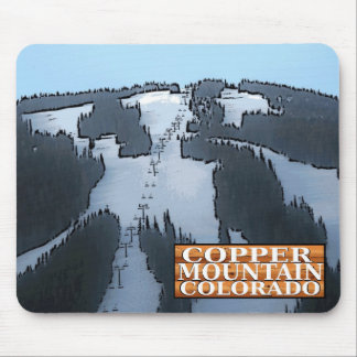 Copper Mountain Colorado ski lift sign mousepad