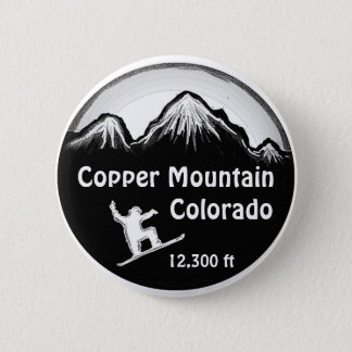 Copper Mountain Colorado snowboard art button
