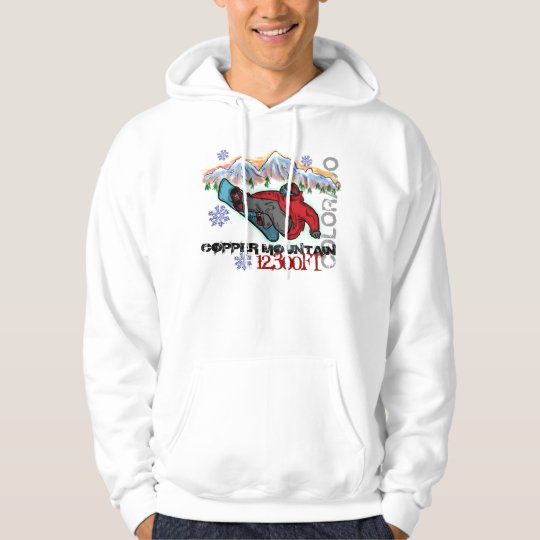Copper Mountain Colorado snowboarder shred hoodie