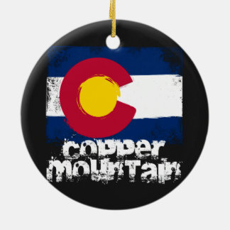 Copper Mountain Grunge Flag Christmas Ornament