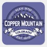 Copper Mountain Midnight Square Sticker