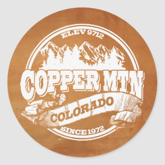 Copper Mountain Old Circle Copper Classic Round Sticker