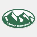 Copper Mountain Oval Oval Sticker