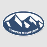 Copper Mountain Oval Sticker