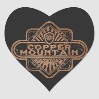 Copper Mountain Vintage DIamond Heart Sticker