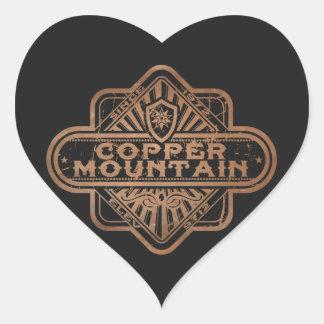 Copper Mountain Vintage DIamond Heart Sticker