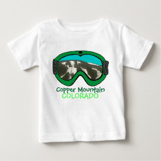 Copper Mtn Colorado green snow goggle baby tee