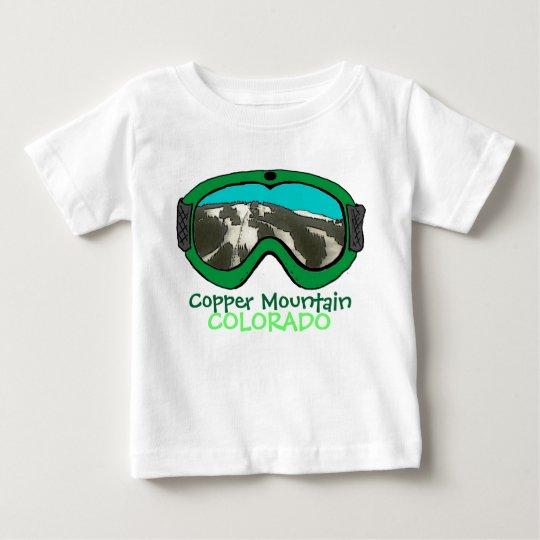 Copper Mtn Colorado green snow goggle baby tee