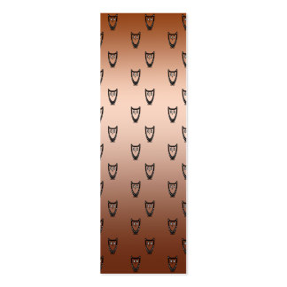 Copper owl pattern business cards