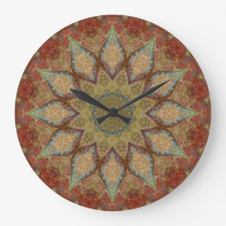 Copper Patina Mandala 00168-5 Clock