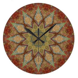 Copper Patina Mandala 00168-5 Large Clock