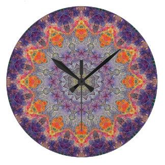 Copper Patina Mandala 00237-2 Large Clock