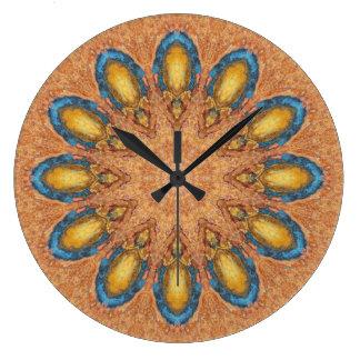 Copper Patina Mandala 0060-1 Large Clock